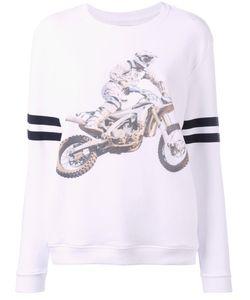 Zoe Karssen | Motorcycle Print Sweatshirt Xs Cotton/Spandex/Elastane