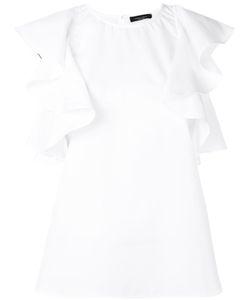 Roberto Collina   Ruffled Sleeves Blouse Size Medium