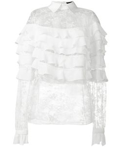 Elie Saab | Lace Tiered Blouse Size 38