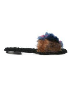 Avec Modération | Slip-On Flat Sandals 39 Artificial Fur/Calf