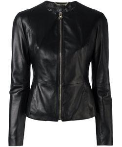 Philipp Plein | Fitted Leather Jacket Medium Lamb Skin/Viscose