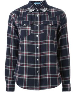 GUILD PRIME | Bejeweled Collar Plaid Button Down Shirt
