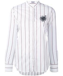 Brunello Cucinelli | Embellished Chest Striped Shirt