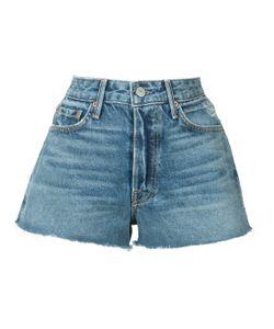 GRLFRND | Frayed Mini Denim Shorts