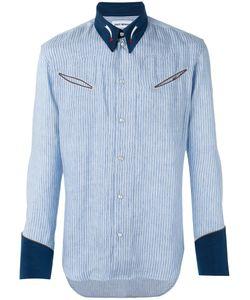 Umit Benan | Striped Panel Shirt