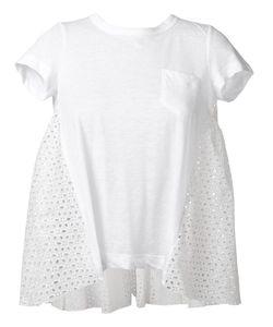 Sacai | Fla Eyelet T-Shirt 3 Linen/Flax/Polyester/Cotton