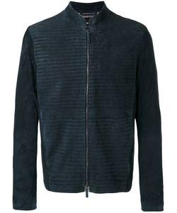 Giorgio Armani | Zipped Jacket 52 Goat Skin/Linen/Flax/Acetate/Viscose