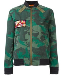 MR & MRS Italy | Camouflage Print Jacket Xxs Cotton/Wool/Polyester/Spandex/Elastane