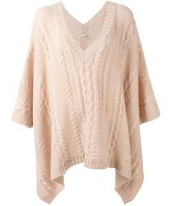 Agnona | Cable Knit Poncho Cashmere