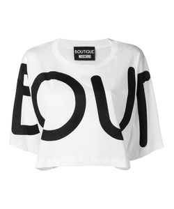 BOUTIQUE MOSCHINO | Cropped Printed T-Shirt