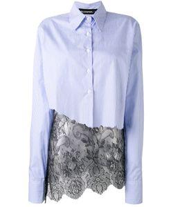 Filles A Papa | Striped Lace Hem Shirt