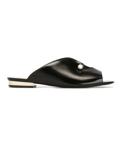 Coliac | Pearled Trim Sandals 35 Calf Leather/Leather/Metal Other