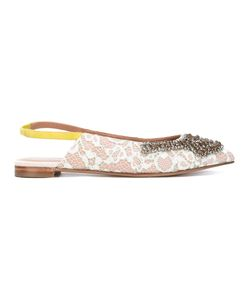 Twin-set | Sling-Back Lace Ballerinas Size 40