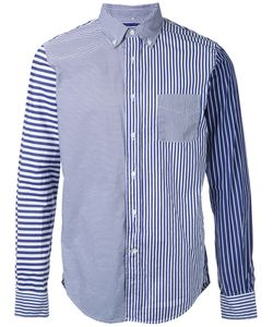 WOOSTER + LARDINI | Patchwork Striped Shirt