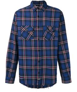 LES ARTISTS | Les Artists Raw Hem Plaid Shirt