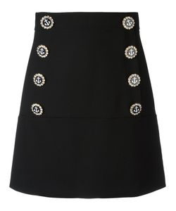 Dolce & Gabbana | Nautical Button Skirt Silk/Cotton/Polyamide/Virgin