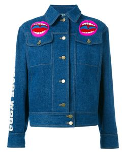 Olympia Le-Tan | Word Image Denim Jacket