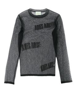 Aries | Logo Tulle Long Sleeve Top Size 1