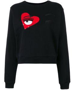 Chiara Ferragni | Wink Patches Cropped Sweatshirt Xs Cotton