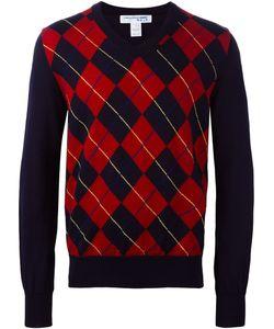 Comme Des Garçons Shirt Boy   Comme Des Garçons Shirt Argyle Jumper Large Acrylic/Wool