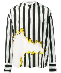 Haider Ackermann | Bleach And Stripe Print Shirt Medium
