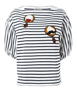 Tsumori Chisato | Patched Puffball Sleeve Striped T-Shirt Size Medium