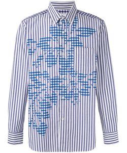 GANRYU COMME DES GARCONS | Полосатая Рубашка С Цветочным Узором