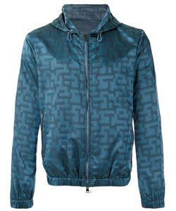 Pal Zileri | Jacquard Hooded Jacket Size 50