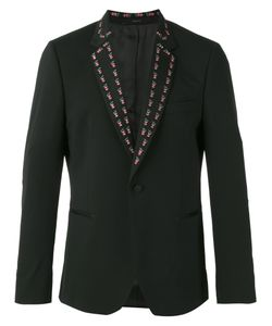 Paul Smith | Embroide Lapel Blazer 36 Spandex/Elastane/Wool/Viscose