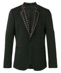 Paul Smith | Embroide Lapel Blazer 36 Spandex/Elastane/Wool/Viscose
