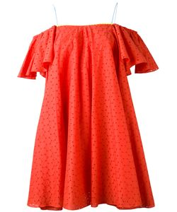 ANNA OCTOBER | Off The Shoulder Embroidered Dress Size Small