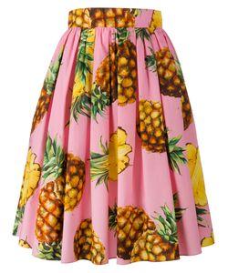 Dolce & Gabbana | Pineapple Print Midi Skirt 38