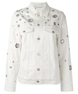 Kenzo | Grommet Detailed Denim Jacket Small Cotton