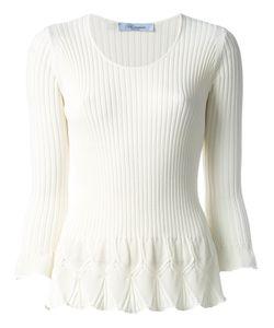 Blumarine | Flared Knit Top Size 42