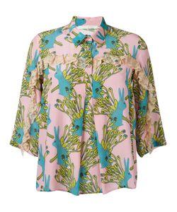 L' Autre Chose | Lautre Chose Printed Ruffle Trim Shirt Size 42