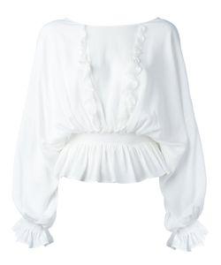 Just Cavalli   Ruffled Blouse Womens Size 42 Viscose