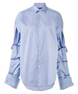 Y / PROJECT | Полосатая Рубашка С Удлиненными Рукавами