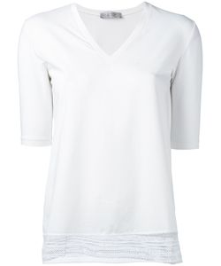 D.exterior | Lace-Hem T-Shirt Size Medium