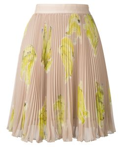 MSGM | Banana Print Pleated Skirt Size 38