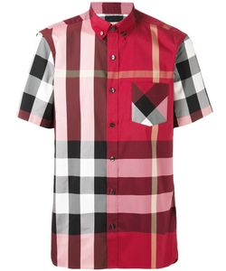 Burberry | Checked Button-Down Shortsleeved Shirt