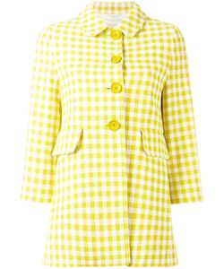 Herno | Gingham Checked Coat 38 Cotton/Acetate/Polyester