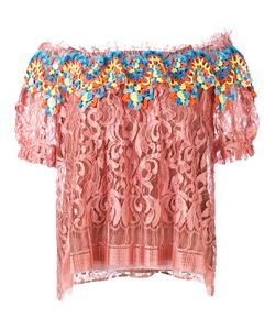 Peter Pilotto | Embroidered Lace Bardot Top Size