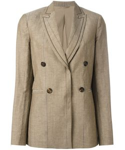 Brunello Cucinelli | Button Up Blazer 42 Silk/Linen/Flax/Acetate/Virgin Wool