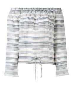 Theory | Off-Shoulders Striped Blouse S