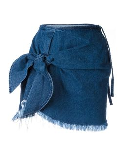 Marques Almeida | Marquesalmeida Knot Detail Denim Skirt 6 Cotton