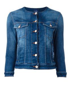 Jacob Cohёn | Jacob Cohen Round Neck Denim Jacket Large Cotton/Spandex/Elastane/Polyester