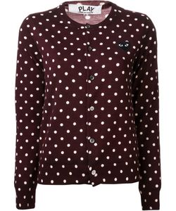 Comme des Gar ons Play | Comme Des Garçons Play Embroidered Heart Polka Dot Cardigan
