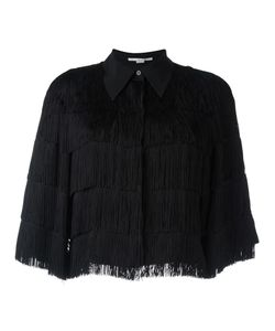 Stella Mccartney | Cropped Fringe Shirt 42 Silk/Viscose