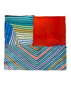 PIERRE-LOUIS MASCIA | Striped Chevron Print Scarf