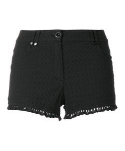 Plein Sud Jeanius | Frill Trim Shorts 38 Cotton